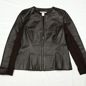 NYGARD COLLECTION LEATHER JACKET WOMENS SIZE M